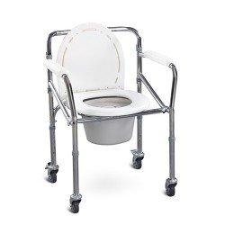 كرسي حمام متحرك أبيض يطوى صيني
