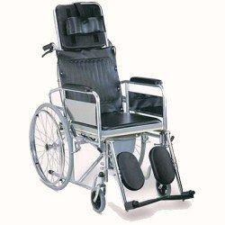 كرسي حمام ظهر متحرك مع رافع أرجل يطوى عجل كبير 608GC