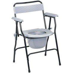كرسي حمام بمسند ظهر وجوانب اسود 899