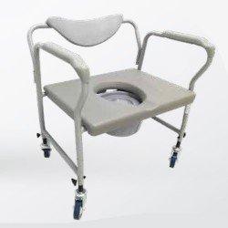 "كرسي حمام عريض جدا مع عجلات 24"""