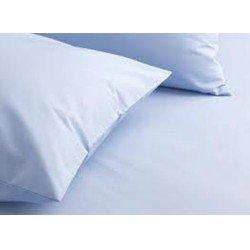 شرشف سرير وغطاء مخدة أزرق