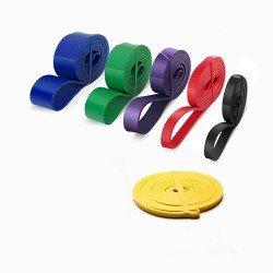 سباكير مجموعة 6 احزمة مطاطي لتمارين الجسم