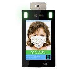 جهاز التعرف على الوجه والكمامة وقياس الحرارة